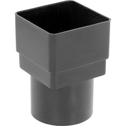 Aquaflow Square - Round Adaptor Black - 20772 - from Toolstation