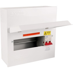 Axiom Axiom Metal 8 way 100A DP Consumer Unit 8 Way - 20800 - from Toolstation