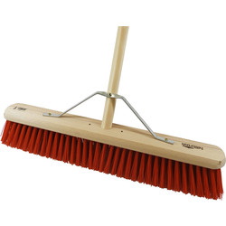 "Hill Brush Company Medium Platform Broom With Handle 24"" (610mm) - 20841 - from Toolstation"