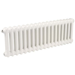 Arlberg Arlberg 2 Column Horizontal Radiator 300 x 854mm 1458Btu White - 20857 - from Toolstation