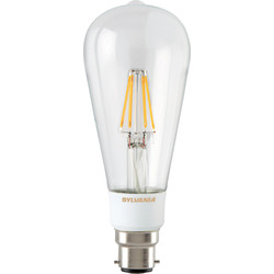 Sylvania Sylvania LED Filament Effect Clear Dimmable ST64 Lamp 5.5W BC 640lm A++ - 20995 - from Toolstation