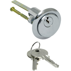 Nightlatch Cylinder Chrome