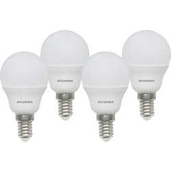 Sylvania LED Frosted Mini Globe Lamp 5W SES (E14) 470lm