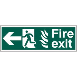 PVC Fire Exit Arrow Safety Sign