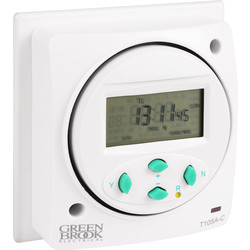 Greenbrook 7 Day Electronic Timer 16A Resistive, 2A Inductive