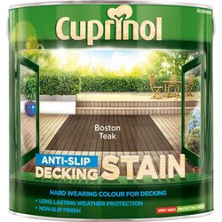 Cuprinol Cuprinol Anti-Slip Decking Stain 2.5L Boston Teak - 21203 - from Toolstation