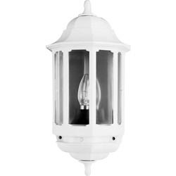 ASD ASD Half Lantern Polycarbonate 60W BC White - 21301 - from Toolstation