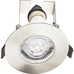Integral LED Evofire IP65 Fire Rated Downlight Satin Nickel with Insulation Guard
