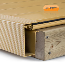 Alupave Fireproof Flat Roof & Decking Side Gutter