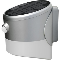 Luceco Luceco SOLAR Guardian 2W PIR Wall Lantern IP44 Grey 200lm - 21455 - from Toolstation