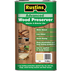 Rustins Rustins Advanced Wood Preserver 5L Clear - 21497 - from Toolstation