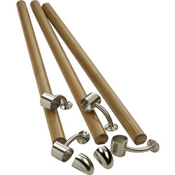 Richard Burbidge Richard Burbidge Fusion Handrail Kit White Oak - 21515 - from Toolstation