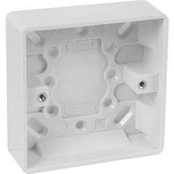 Scolmore Click Click Mode Moulded Box 1 Gang 25mm - 21517 - from Toolstation