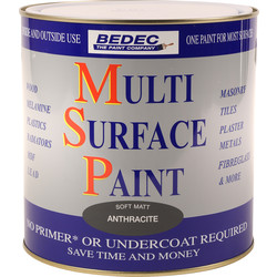 Bedec Bedec Multi Surface Paint Matt Anthracite 2.5L - 21522 - from Toolstation