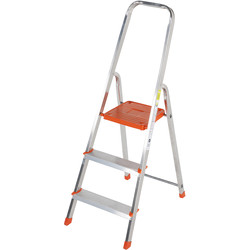 TB Davies TB Davies Light Duty Platform Step Ladder 3 Tread SWH 2.2m - 21561 - from Toolstation