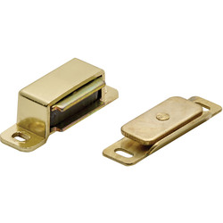 Carlisle Brass Superior Steel Magnetic Catch 46 x 15 x 14mm Electro Brassed - 21593 - from Toolstation