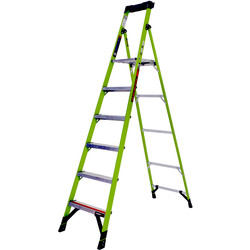 Little Giant Little Giant Mighty Lite Fibreglass Step Ladder 6 Tread SWH 3.31m - 21662 - from Toolstation