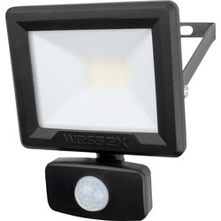 Wessex Electrical Wessex LED PIR Floodlight IP65 10W 800lm Black - 21678 - from Toolstation