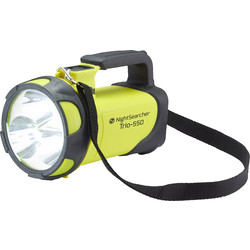 Nightsearcher Nightsearcher Trio LED Rechargeable Handlamp Torch Yellow 550lm 600m Beam - 21740 - from Toolstation