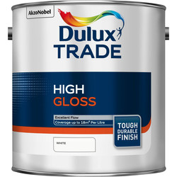 Dulux Trade Dulux Trade High Gloss Paint White 2.5L - 21785 - from Toolstation