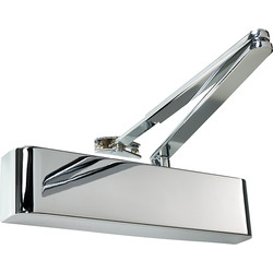 Rutland Rutland TS.5204 Door Closer Polished Nickel Size 2-4, With Cover - 21811 - from Toolstation