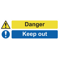 Danger Keep Out Sign 600 x 200mm - 22063 - from Toolstation
