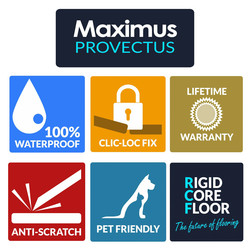 Maximus Provectus Rigid Core Flooring - Carvo