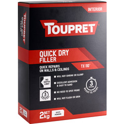 Toupret Toupret TX110 Rapid Drying Interior Filler 2kg - 22146 - from Toolstation