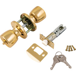 ERA ERA Door Knob Set Entrance Brass - 22182 - from Toolstation