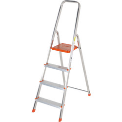 TB Davies TB Davies Light Duty Platform Step Ladder 4 Tread SWH 2.4m - 22227 - from Toolstation
