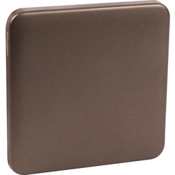 Schneider Schneider Lisse Mocha Bronze Screwless Blank Plate 1 Gang - 22230 - from Toolstation