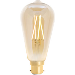 4lite WiZ 4lite WiZ LED ST64 Smart Filament Wi-Fi Bulb 6.5W BC 720lm Amber - 22305 - from Toolstation