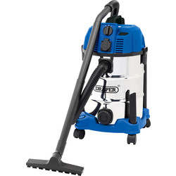 Draper 30L Wet & Dry Vacuum Cleaner With Power Tool Take Off 230V