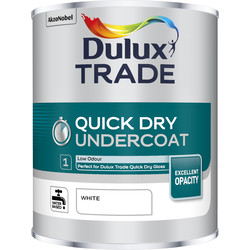 Dulux Trade Dulux Trade Quick Dry Undercoat Paint White 1L - 22356 - from Toolstation