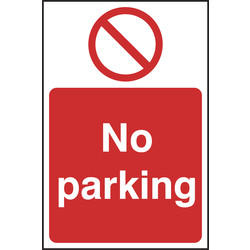 Prohibition Sign No Parking 200x300 - 22416 - from Toolstation