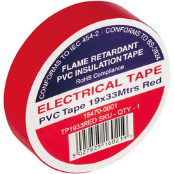 Insulation Tape Red 19mm x 33m - 22432 - from Toolstation