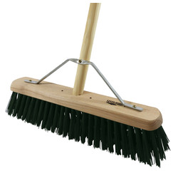 "Hill Brush Company Industrial Stiff Platform Broom With Handle 18"" (457mm) PVC - 22516 - from Toolstation"