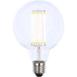 Inlight Vintage LED Filament G95 Globe Bulb Lamp 6W ES 650lm Clear - 22540 - from Toolstation