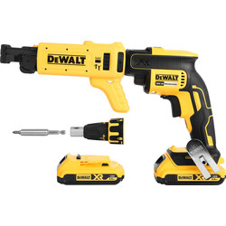 DeWalt DeWalt DCF620D2K-GB 18V XR Collated Drywall Screwdriver 2 x 2.0Ah - 22576 - from Toolstation