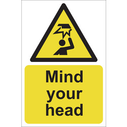 Mind Your Head Sign 200 x 300mm - 22631 - from Toolstation