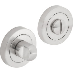 Hiatt Designer Bathroom Thumbturn & Release Set Brushed Nickel - 22645 - from Toolstation