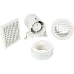 Airvent 100mm Inline Shower Extractor Fan Kit with Timer