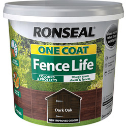 Ronseal Ronseal One Coat Fence Life 5L Dark Oak - 22720 - from Toolstation