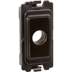 Wessex Wiring Wessex Grid Switch Ancillaries Black Flex Outlet - 22830 - from Toolstation