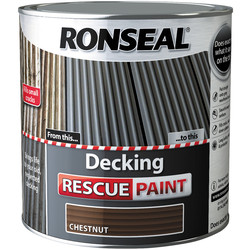Ronseal Ronseal Decking Rescue Paint 2.5L Chestnut - 22915 - from Toolstation
