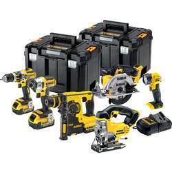 DeWalt DeWalt DCK699M3T-GB 18V Li-Ion XR Li-Ion 6 Piece Kit 3 x 4.0Ah - 22994 - from Toolstation