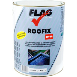 Flag Roofix 20/10 White 5L - 23070 - from Toolstation