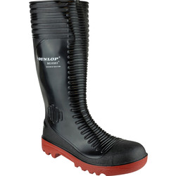 Dunlop Dunlop Acifort A252931 Safety Wellington Black Size 9 - 23084 - from Toolstation