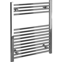 Kudox Kudox Chrome Flat Ladder Towel Radiator 750 x 600mm 908Btu - 23088 - from Toolstation