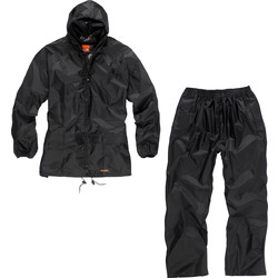 Scruffs Scruffs 2 Piece Rainsuit X Large Black - 23100 - from Toolstation